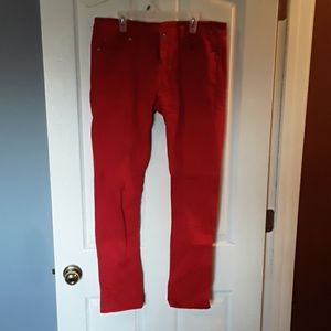 Red denim Jeans by Blue Asphalt